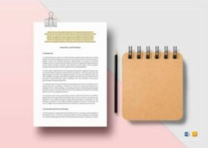 Developing a Grant Proposal Template