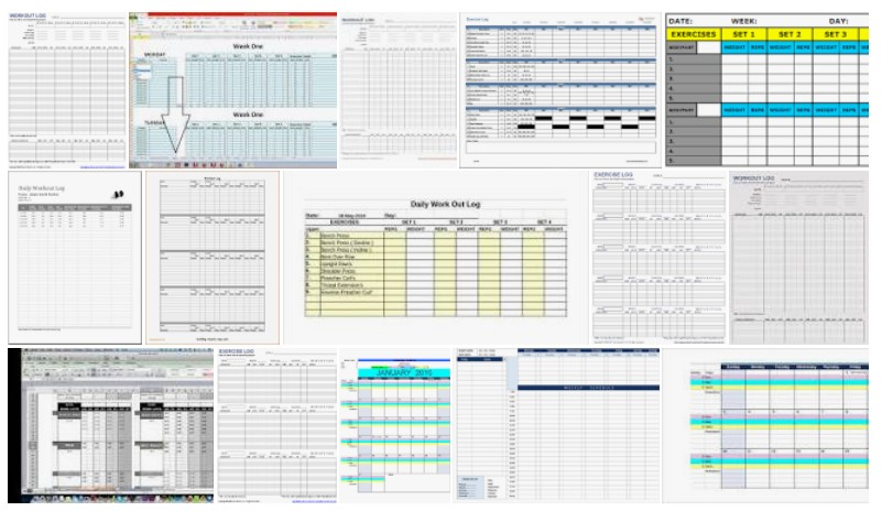 2 Workout Log Excel Examples