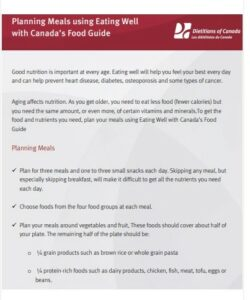 Food Planning Meal Guide in PDF