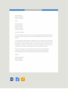 Free Formal Application Letter Template