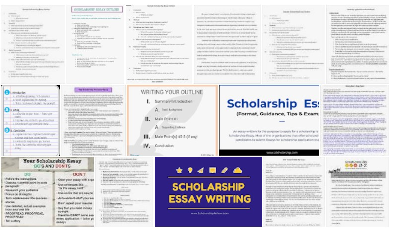 Scholarship Essay Outline Examples in PDF, MS Word