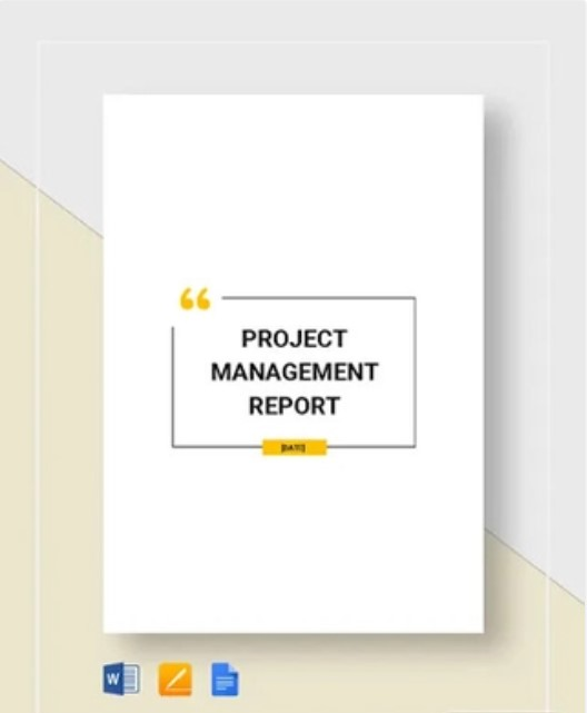 Project Management Report Template
